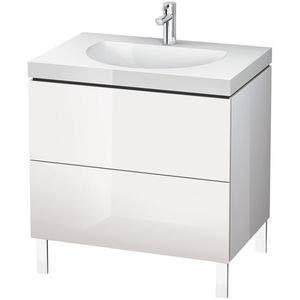 Duravit Waschtisch l-cube 698x 8002Schubladen ohne Loch Cappuccino Hochglanz -