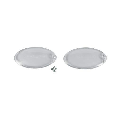 2 x Lampenabdeckung Abdeckung Lampendeckel Deckel oval Dunstabzugshaube ORIGINAL ARISTON C00058249 Bauknecht 482000027038