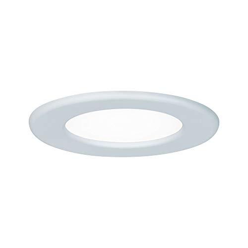Paulmann Leuchten Paulmann 92058 Einbaupanel rund Deckenleuchte 6W Licht 4000K Neutralweiß LED Panel Weiß IP44 spritzwassergeschützt inklusive Leuchtmittel Einbauleuchte Kunststoff 6 W