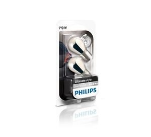Price comparison product image Philips 12496SVB2Silver Vision PY21W 12V 21W OSP BAU15s Indicator Chrome Double Blister