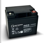 AKKU BATTERIE Q-Batteries 12LCP-50 12V 50Ah GOLFCADDY MOOVER BOOT SCOOTER ELEKTROMOBIL ROLLSTUHL ZYKLENTYP