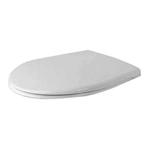 Duravit 66810000 WC-Sitz Duraplus Compact weiß mit Deckel und Befestigung aus Edelstahl