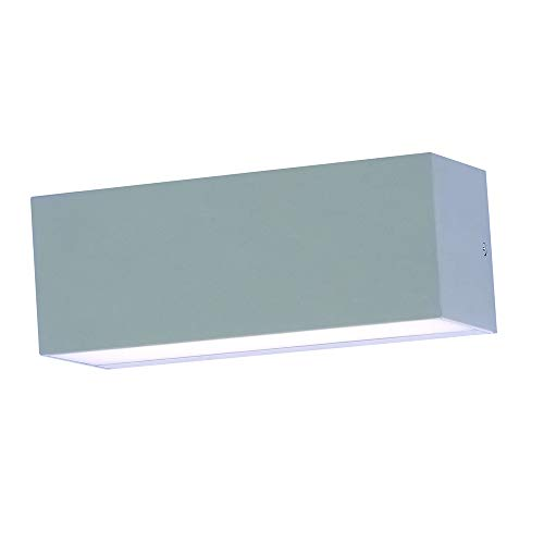 V-TAC 12W Moderne Up/Down LED Wandleuchte - Große Größe - 4000K Tageslichtweiß - IP65 Wasserfest Indoor/Outdoor Leuchte - Graues Druckguss-Aluminium Gehäuse - Sensorkompatible Wandleuchte - Aluminium Große Outdoor-wandleuchte