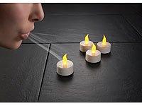Lunartec LED-Teelichter mit Luftzugsensor, 4er-Set von Lunartec auf Lampenhans.de
