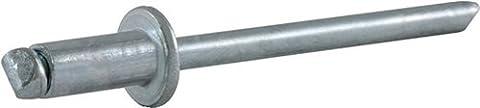 VVG Blindniet Alfo DIN EN ISO 14589 Niethülse D. x L. 3 x 5 mm Stahl/Stahl Klemmbereich 1,5-3,0 mm, 500 Stück