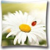 ArtoutletMF Daisy avec Gris et Jaune Decorpillow Coque Taie d'oreiller décoratif Housse de Coussin Taie d'oreiller 18 x 18