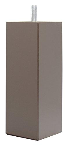 La Fabrique de Pieds AM20170110 Jeu de 4 Pieds de Lit Carres Bois Laqué Chocolat 15 x 5,5 x 5,5 cm
