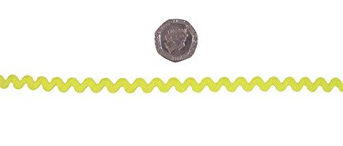 Gelb Ric Rac 8mm Trimming Verkauft in Ten Meter Längen -