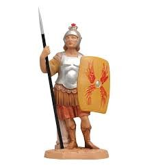 Statuina presepe CENTURIONE ROMANO CON SCUDO (158) 12cm Tipo Legno Fontanini