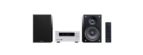 Pioneer X-HM51-S Micro-System (2x 50 Watt, Bluetooth, USB) inkl. verbesserte 2 wege-Lautsprechersystem silber Home Stereo Receiver Pioneer