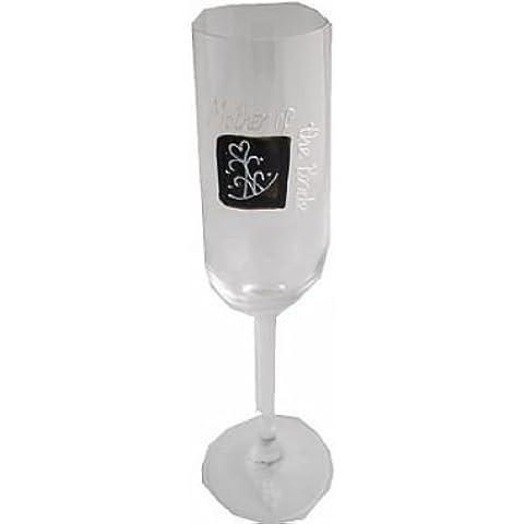 Madre della Sposa Regalo Champagne Flauto (Tiara BLK SQ)
