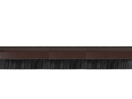Türbodendichtung Bürste Braun 100cm. Türbesen, Zugluftstop, Luftzugdichtung