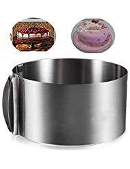 Kuchen machen Tool 6-12inch Cake Ring silber