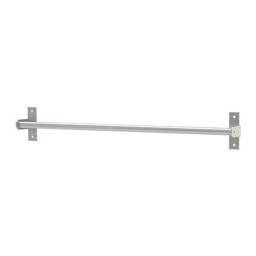 """IKEA Handtuchhalter \""""Grundtal\"""" Handtuchstange 59cm - rostfreier, matter Edelstahl - auch als Deckelhalter und für Haken optimal"""