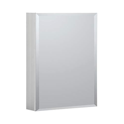 B&C Medizinschrank aus Aluminium, 3 Spiegel, Öffnung für Links oder rechts, verstellbare Ablagen aus gehärtetem Glas, einfache Montage auf Oberfläche oder Nische 20
