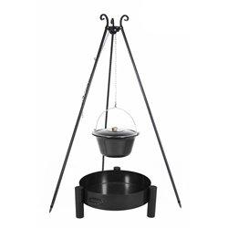 Dreibein Grill VIKING Höhe 180cm + Emaillierter Topf 10 Liter + Feuerschale Pan33 Durchmesser 60cm - Viking Outdoor-grills