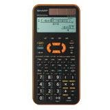 Sharp EL-W531 XG YR Orange Schulrechner MP3-Look Solarbetrieb mit Stützbatterie (TWIN-Power)