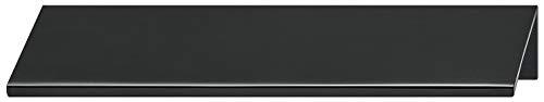 Gedotec Möbelgriff Küche Kantengriff Alu Schubladengriff für Möbel-Türen - SERO | Türgriff Aluminium schwarz matt | Schrank-Griff Länge 70 mm | 1 Stück - Griffleiste für rückseitige Verschraubung