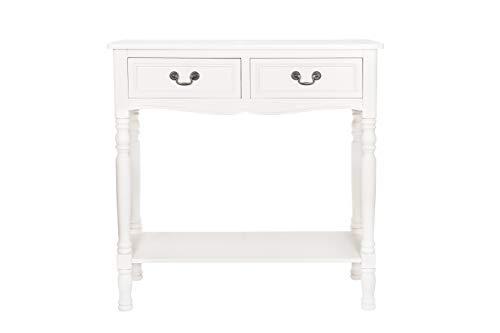 B.U.S. Wohnstyle GmbH Anrichte Konsole Konsolentisch Tisch weiß Creme Landhaus WS401