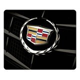 cadillac-car-logo-on-black-rectangle-mouse-pad