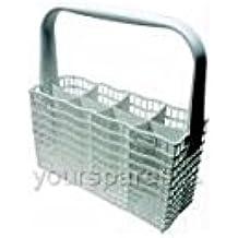 Electrolux - Cubertero universal para lavavajillas (8 compartimentos, 25,5 x 5,5 cm, con asa) para DS17, DS22, DW905, DW915, DW925