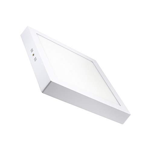 Plafón LED Cuadrado 24W Blanco Frío 6000k-6500K efectoLED