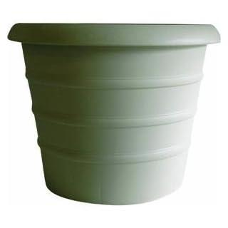 Akro-Mils 16-Inch Marina Series Planter, Champagne White