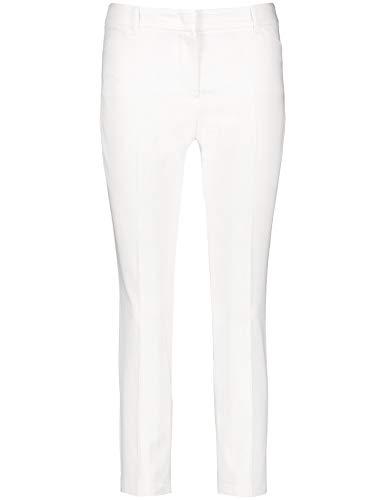 Taifun Damen 7/8 Hose Aus Baumwoll-Mix Slim Peg Leg Schlankes Bein Off-White 42 - Peg-leg-hose