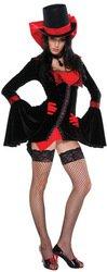 Miss Dracula Kostüm - schwarz/rot - -
