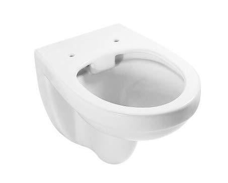 ADOB, spülrandlose wandhängende WC Keramik Toilette weiss, 28012