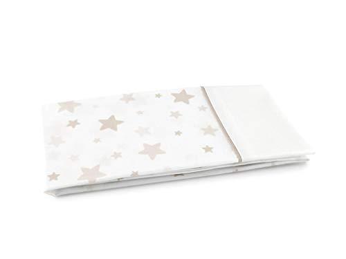 MI CASA Funda Almohada Estrellas 90, Beige, 90 cm