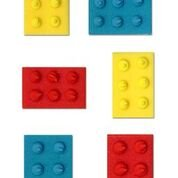 essbar Sugarcraft Bunte Block Brick Cake Topper–6Stück–Perfekt für Geburtstage und Dekoration Ihrer Kuchen (Lego Brick-kuchen)