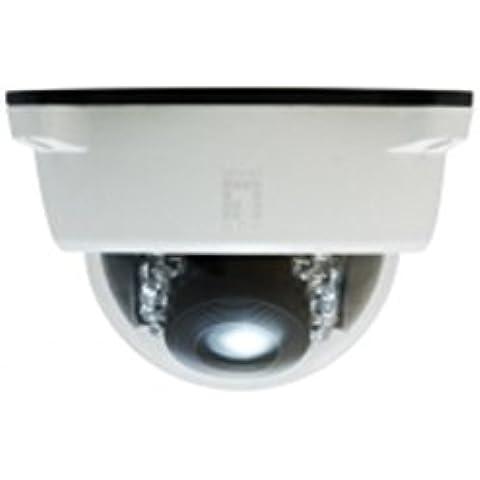 LevelOne FCS-4102 - Cámara de vigilancia (IP, Interior y exterior, Dome, Color blanco, Techo, 1920 x 1080