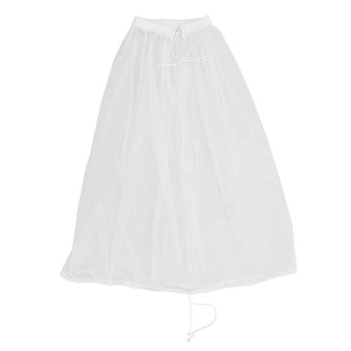 P Prettyia Lang Petticoat Krinoline Reifrock Unterrock für Brautkleid Formale Kleider...