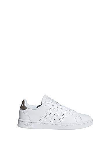 Adidas Advantage, Damen Hallenschuhe, Weiß (Ftwbla/Ftwbla/Gridos 000), 36 2/3 EU (4 UK)