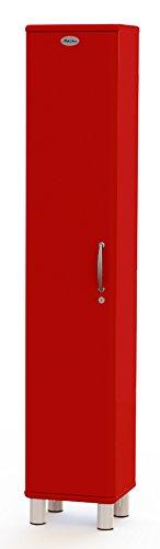 Hochschrank abschließbar, Designer Hochschrank rot