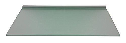 Regale4You Glasregal: 60x30 cm satiniertes Glas 10 mm mit Profil LINO10 Komplett mit Befestigung / 1 Wandregal