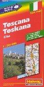 Toscane (Italie). 1/250 000 par Collectif