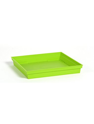 Soucoupe Vert Pistache pour Pot carré Toscane