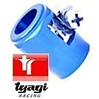 10 Acciaio Inox Tubo Intrecciato Estremità Terminale Di Scarico Blu