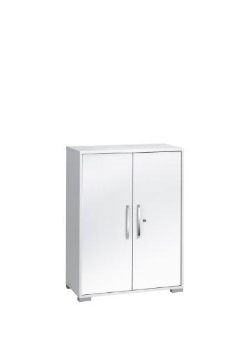 MAJA-Möbel 1226 3956 Aktenregal mit Türen, Icy-weiß - weiß Hochglanz, Abmessungen BxHxT: 80 x 109,7 x 40 cm