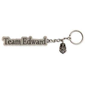 Team Edward + Escudo Llavero Metalico Luna Nueva (crepusculo) de NECA