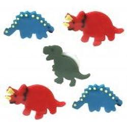 Sugarcraft comestibles diseño de dinosaurios, para tartas de colores Pack de 5–perfecto para decorar tu Cakes- fácil de usar