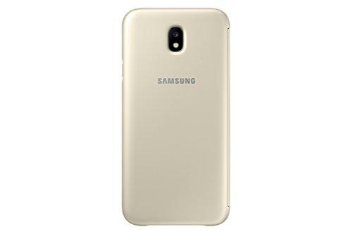Samsung Wallet Cover - Funda con Tapa Galaxy J7 2017, Color Dorado- Versión española