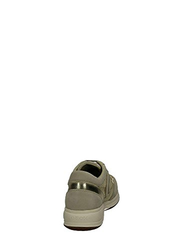 Geox J Happy G.B, Sneaker Bambina Beige/Gold