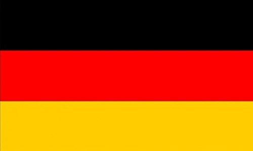 UKFlagShop Deutschland-Fahne, 45x 30cm, 100{1cfd7e47bb2fa89d7ce5c678b014dd5ea61292c27f12d8423cc2c39495a508cb} Polyester, zum Herstellen von Flaggen, Bannern, für Feste und Party-Dekorationen, mit Einschub für Flaggenmast