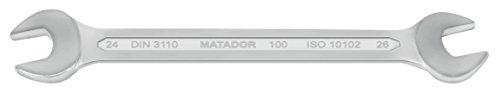 MATADOR clés à fourche doubles, 22 x 24 mm 2224 0100
