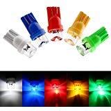 EverBright 50-Pack Mix 5-couleurs blanc/bleu/rouge/jaune/vert T10 194 168 1 Concave de SMD LED ampoule lampe intérieur voiture remplacement feux ampoule 12V DC de lecture approprié