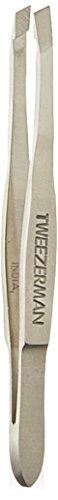 Tweezerman Pince à épiler biseautée en acier inoxydable