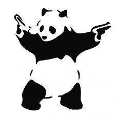 Banksy Bad Panda Graffiti Funny Symbol Funny Bumper Sticker Car Van Bike Sticker Decal Free P&P